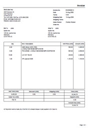 carpenter invoice template